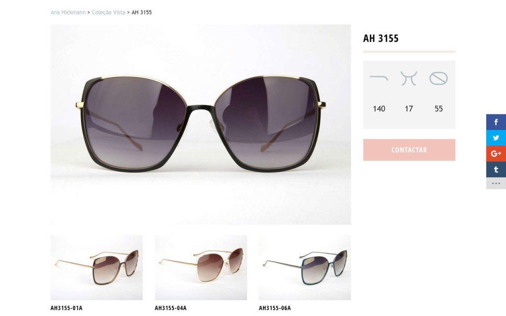 Página de óculos