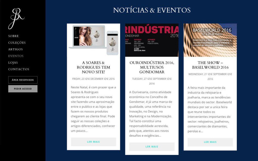 Notícias e eventos