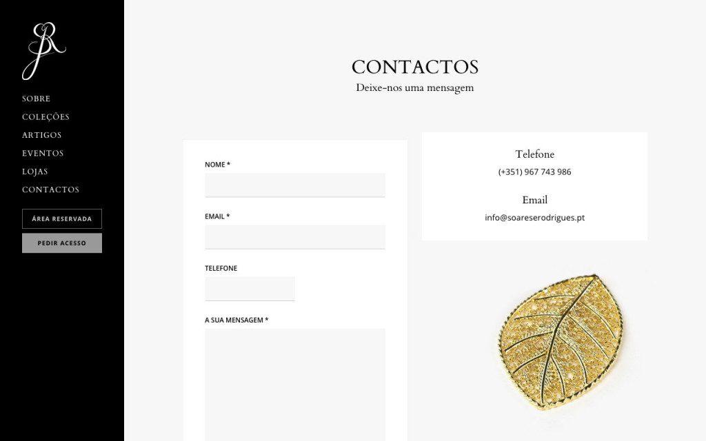 Formulário de contacto