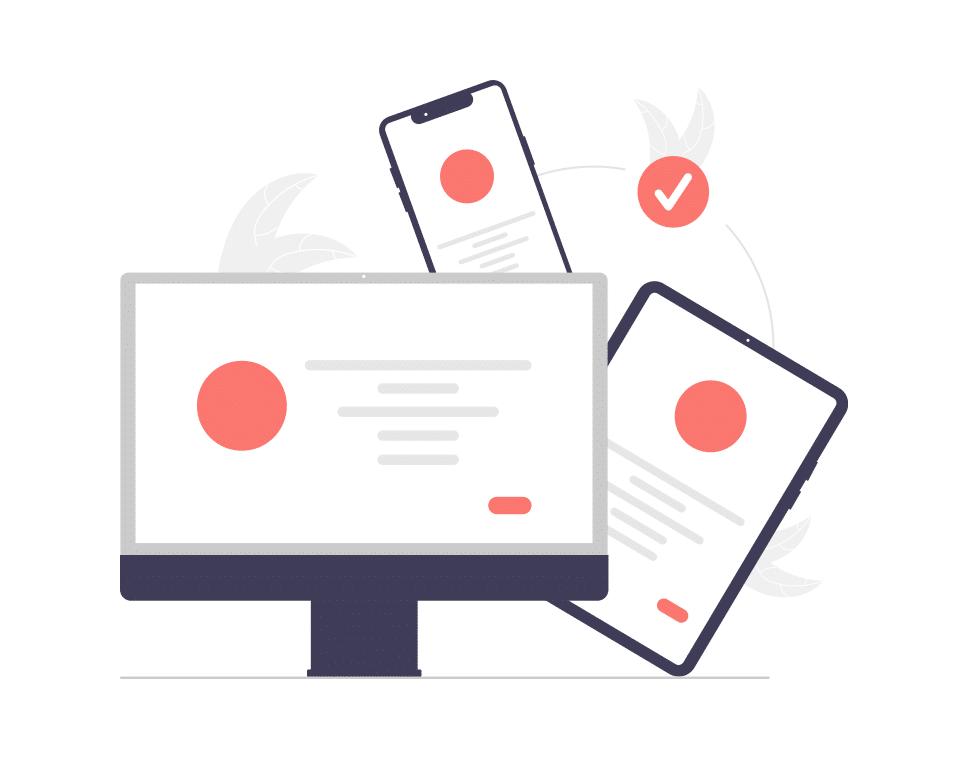 sincronização de conteúdos web design